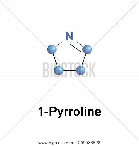 Pyrrolines, also known under the name dihydropyrroles, are three different heterocyclic organic chemical compounds that differ in the position of the double bond. It is a cyclic imine