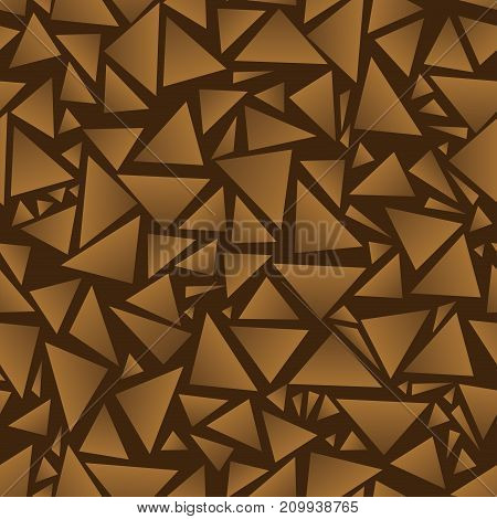 brown Seamless background. Triangles.Vector illustration. Eps 10.