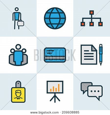 Trade Colorful Outline Icons Set. Collection Of World, Worker, Team And Other Elements