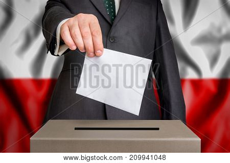 Election In Poland - Voting At The Ballot Box
