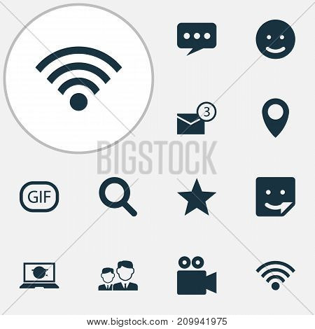 Internet Icons Set. Collection Of Chat, Inbox, Message And Other Elements