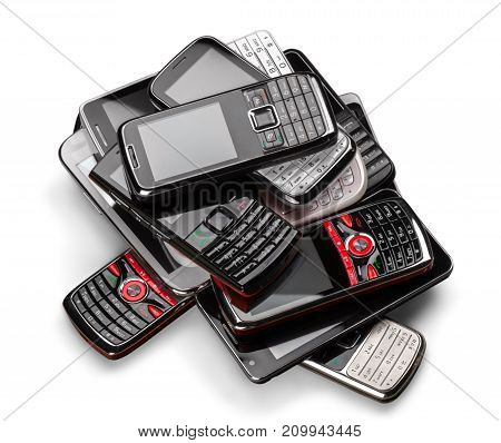 Smart phones smartphones group background object design