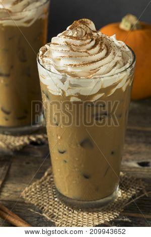 Sweet Iced Pumpkin Spice Latte