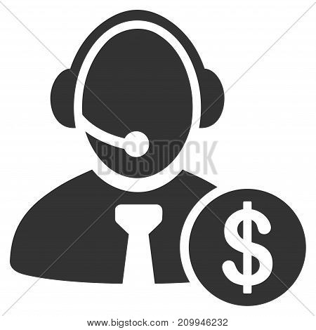 Distance Marketing vector pictogram. Style is flat graphic gray symbol.