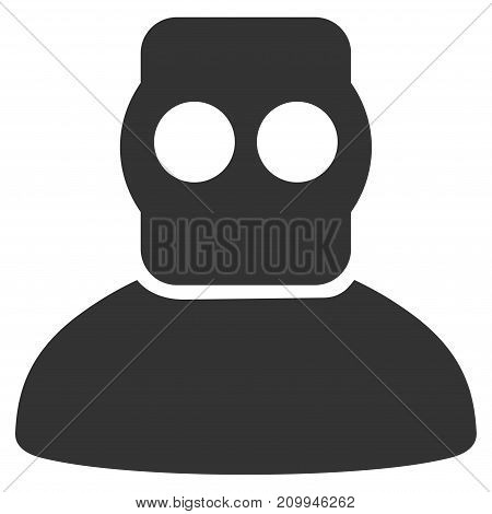 Diver Armor vector pictograph. Style is flat graphic grey symbol.