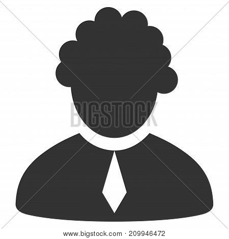 Judge Profession vector icon. Style is flat graphic grey symbol.