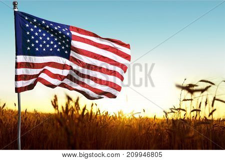 Background flag usa green red white blue