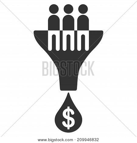 Sales Filter vector pictograph. Style is flat graphic gray symbol.