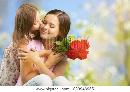 Flowers daughter mother mother and daughter small gift beautiful