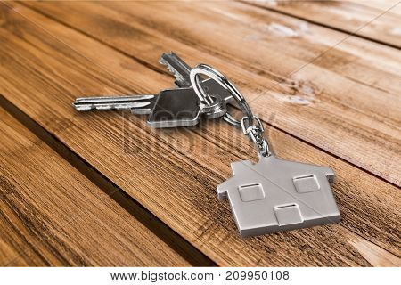 House house keys home buyer background nobody sale business