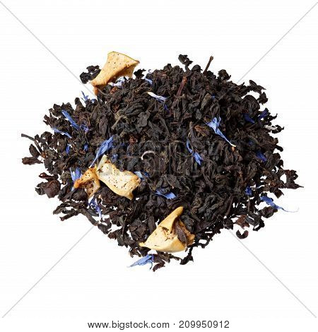 Black tea isolated on white. High resolution photo.