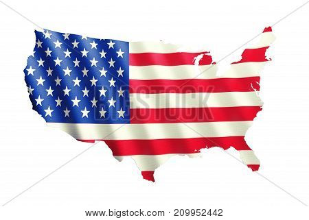 Flag america color red white blue background