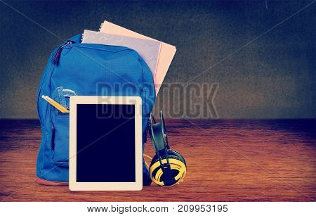 Back school tablet backpack table pc color large