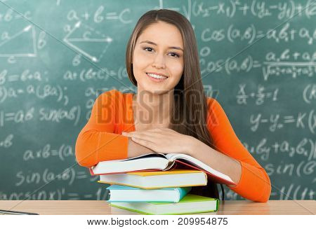 Female young student young adult background view beautiful