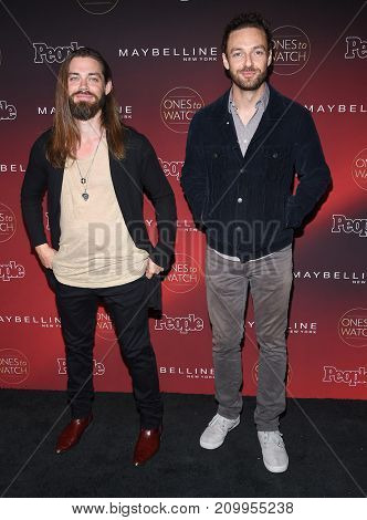 LOS ANGELES - OCT 04:  Tom Payne and Ross Marquand arrives for the People's 'One's To Watch' Event on October 4, 2017 in Hollywood, CA