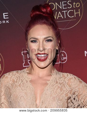 LOS ANGELES - OCT 04:  Sharna Burgess arrives for the People's 'One's To Watch' Event on October 4, 2017 in Hollywood, CA