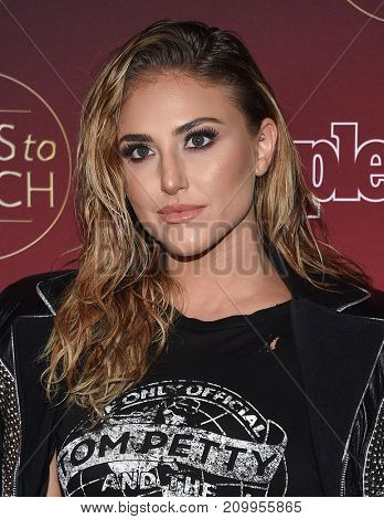 LOS ANGELES - OCT 04:  Cassie Scerbo arrives for the People's 'One's To Watch' Event on October 4, 2017 in Hollywood, CA