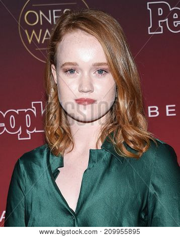 LOS ANGELES - OCT 04:  Liv Hewson arrives for the People's 'One's To Watch' Event on October 4, 2017 in Hollywood, CA