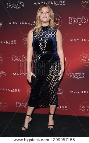 LOS ANGELES - OCT 04:  Sasha Pieterse arrives for the People's 'One's To Watch' Event on October 4, 2017 in Hollywood, CA