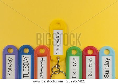Key holders with day names on them