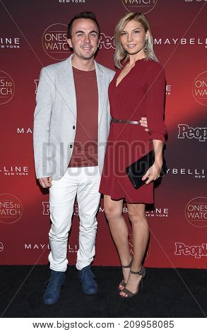 LOS ANGELES - OCT 04:  Frankie Muniz and Paige Price arrives for the People's 'One's To Watch' Event on October 4, 2017 in Hollywood, CA