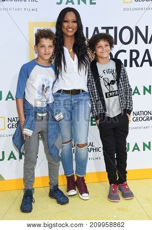 LOS ANGELES - OCT 09:  Garcelle Beauvais, Jax Nilon and Jaid Nilon arrives for the 'Jane' Los Angeles Premiere on October  9, 2017 in Hollywood, CA