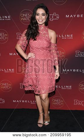 LOS ANGELES - OCT 04:  Auli'i Cravalho arrives for the People's 'One's To Watch' Event on October 4, 2017 in Hollywood, CA