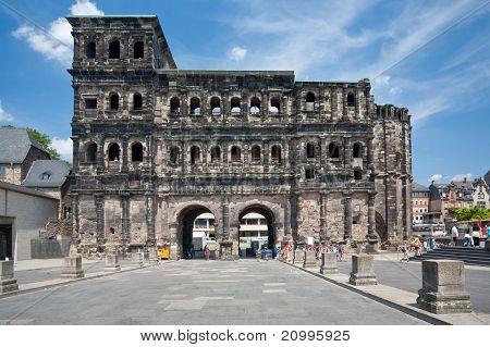 View On Porta Nigra In Trier, Germay