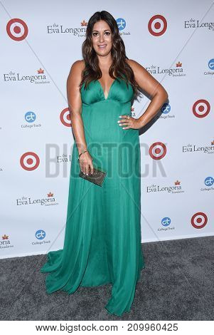 LOS ANGELES - OCT 12:  Angelique Cabral arrives for the Eva Longoria Foundation Dinner on October 12, 2017 in Beverly Hills, CA