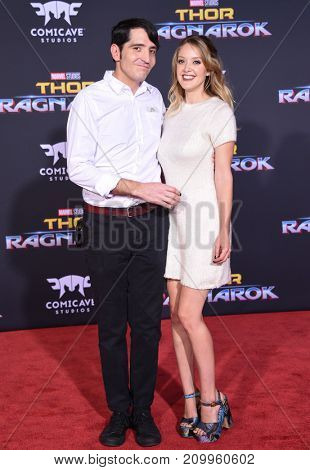 LOS ANGELES - OCT 10:  David Dastmalchian and Evelyn Leigh arrives for the