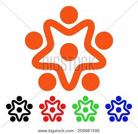 User Organization icon. Vector illustration style is a flat iconic user organization symbol with black, orange, red, green, blue color variants. Designed for web apps and software interfaces.