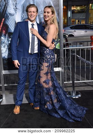 LOS ANGELES - OCT 16:  Blake Burt and Mackenzie Loren arrives for the