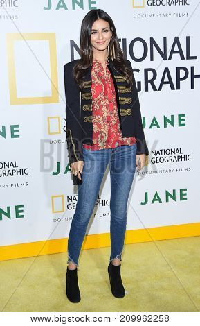 LOS ANGELES - OCT 09:  Victoria Justice arrives for the 'Jane' Los Angeles Premiere on October  9, 2017 in Hollywood, CA