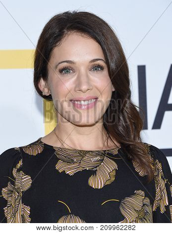 LOS ANGELES - OCT 09:  Marla Sokoloff arrives for the 'Jane' Los Angeles Premiere on October  9, 2017 in Hollywood, CA