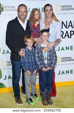 LOS ANGELES - OCT 09:  Kerri Walsh Jennings, Casey Jennings, Joseph, Sundance & Scout Jennings arrives 'Jane' Los Angeles Premiere October  9, 2017 in Hollywood, CA