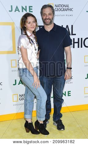 LOS ANGELES - OCT 09:  Judd Apatow and Iris Apatow arrives for the 'Jane' Los Angeles Premiere on October  9, 2017 in Hollywood, CA