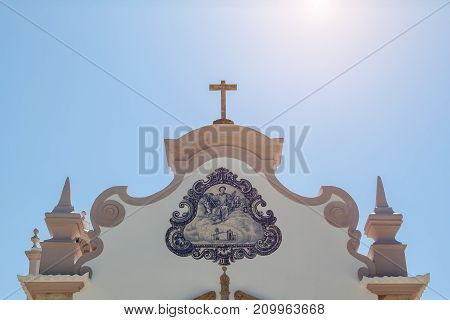 Traditional Portuguese Details of the Catholic Church Algarve