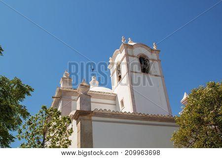 Details old Portuguese Catholic church. Sao Lorenco