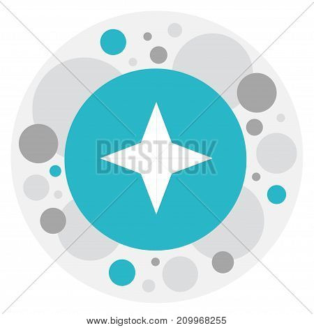 Vector Illustration Of Education Symbol On Geography Icon