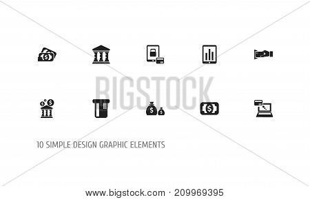 Set Of 10 Editable Finance Icons. Includes Symbols Such As Academy, Payment, Library And More