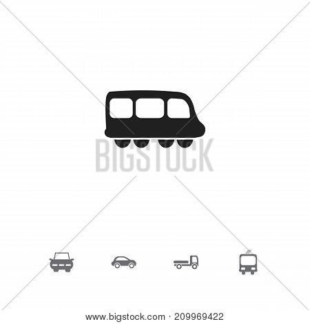 Set Of 5 Editable Transport Icons. Includes Symbols Such As Transportation, Haulage, City Drive And More