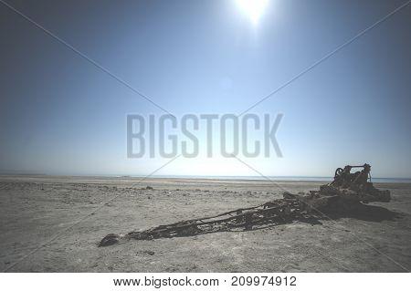 The Northern California coast off Mendocino County