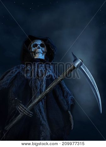The Death with a skull face and big scythe