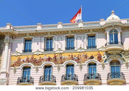 Close View Of A Building In Monte Carlo, Monaco