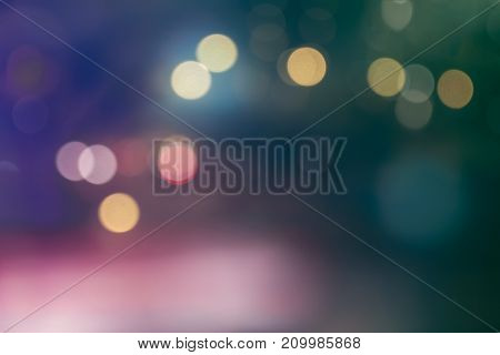 Abstract Blur Lights. Blurred Background Green And Red