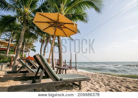 Beautiful seaside beach in southern of Thailand