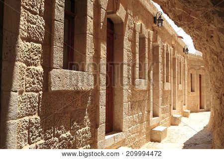Monastery of the Temptation in Jericho, Palestine