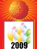 new year greeting pattern, vector illustration poster