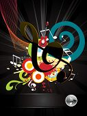 musical composition with music nodes poster
