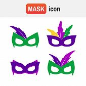 carnaval isolated gras. Mardi gras mask vector mardi gras masks poster